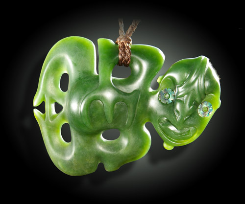 A traditional NZ jade TIKI
